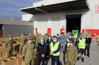 Emergency Management Commissioner Andrew Crisp meets with ADF and CFA personnel involved in storm recovery.